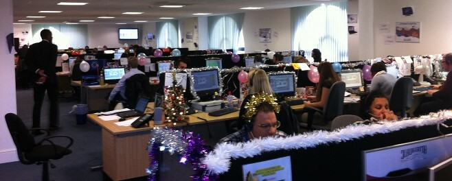 Call Centre at christmas